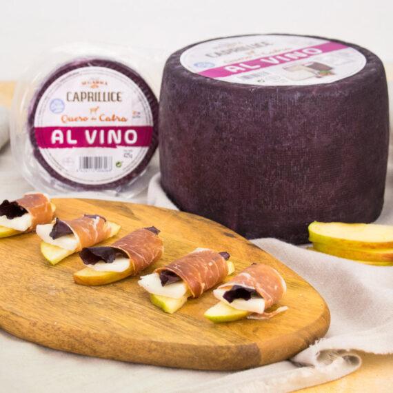 Queso de cabra al vino, uno de nuestros quesos preferidos en el mercado internacional.