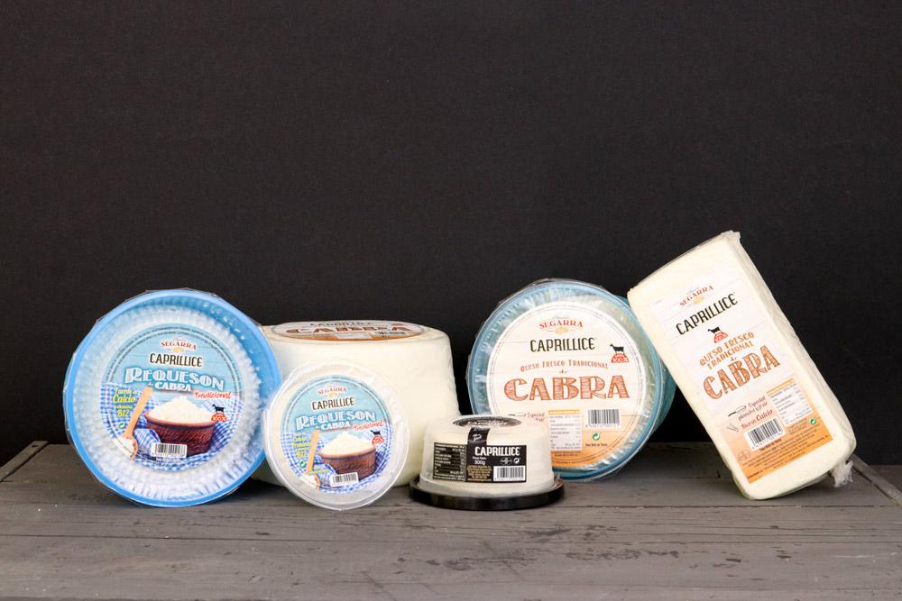 diferentes tipos de queso de cabra elaborados en Lácteos Segarra