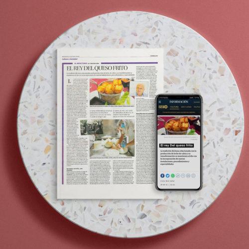 Artículo en el Diario información sobre el queso frito de Lacteos Segarra