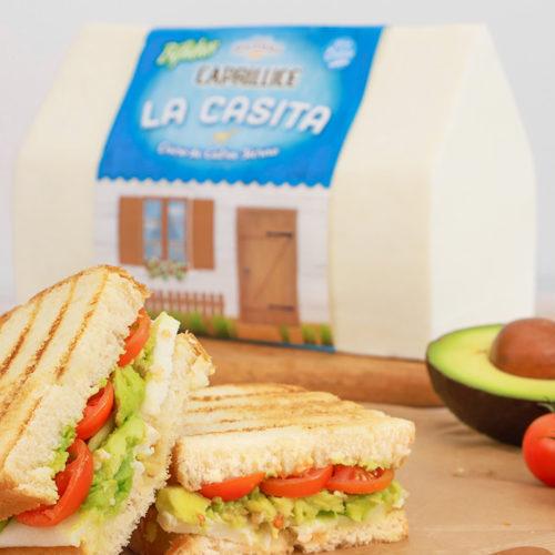 Bocadillo vegetal con queso de cabra la casita de Lácteos Segarra - Receta rápida