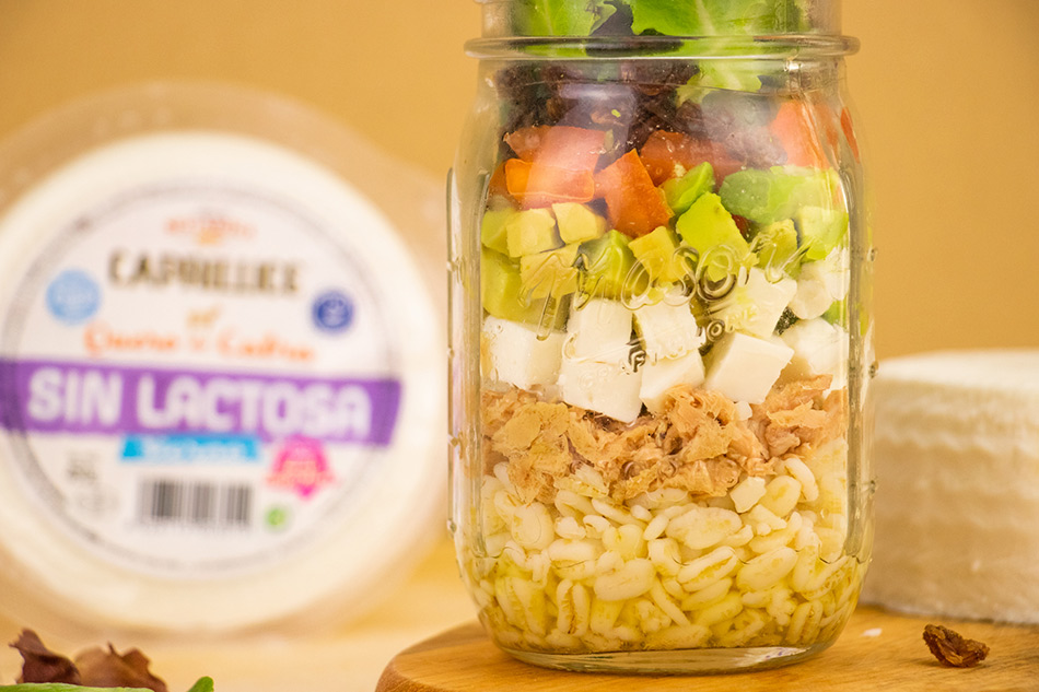 Receta salad JAR con queso sin lactosa