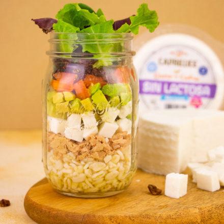 Receta Salad JAR queso sin lactosa